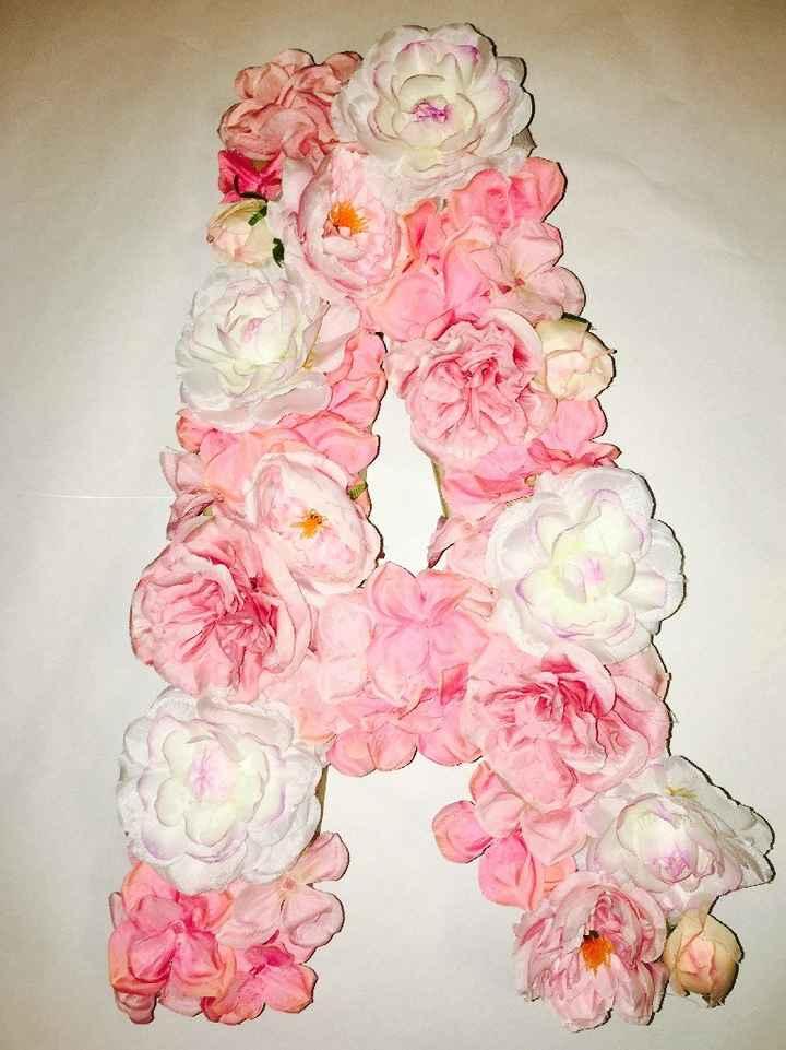 Large floral letters - 2