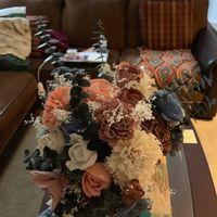 Sola flower bouquet - diy greenery Question - 1
