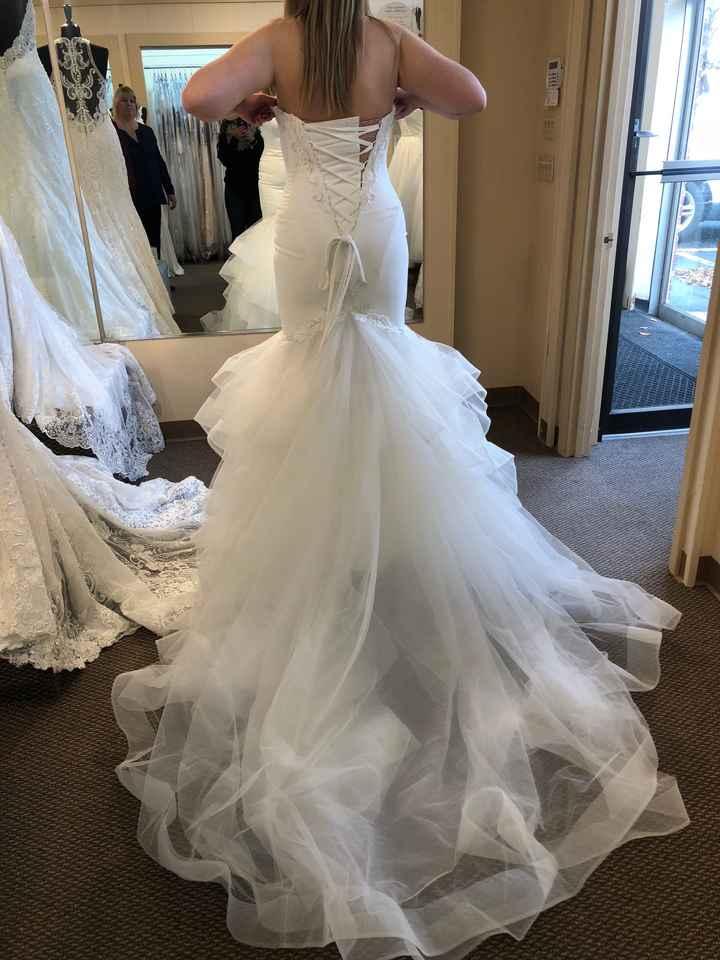 Mermaid/trumpet wedding gowns! - 1