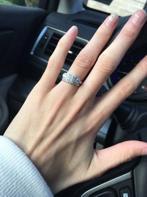 3 stone engagement ring, show me your wedding set! 1