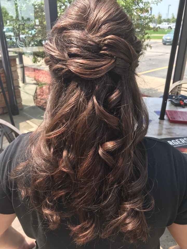 Wedding day hair - 1