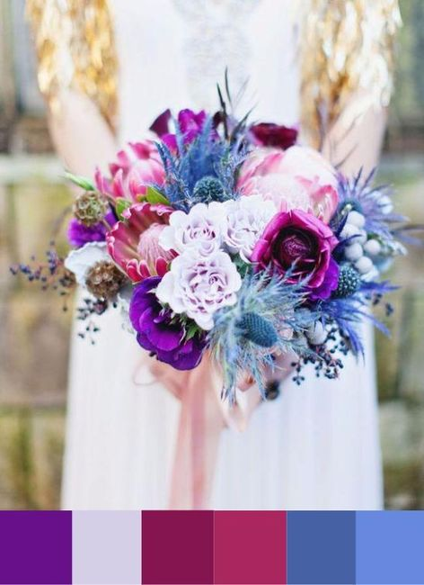 Natural purples and blues