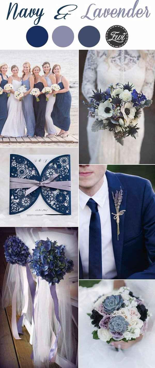 Navy and lavender