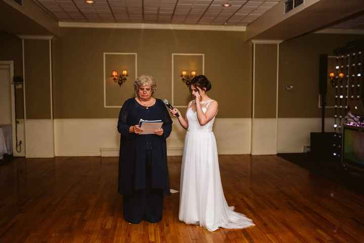 My mom during her speech making me cry!