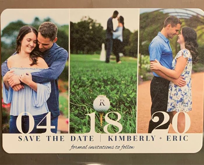 How many pictures did you use on your Save the Dates? 7