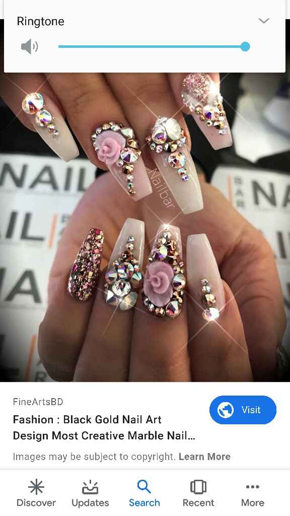Wedding Nails: Rhinestone Press Ons? - 1