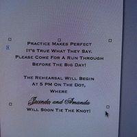 Rehearsal Invitations!!
