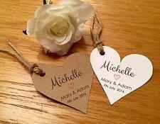 gold hearts for name places/napkin holders