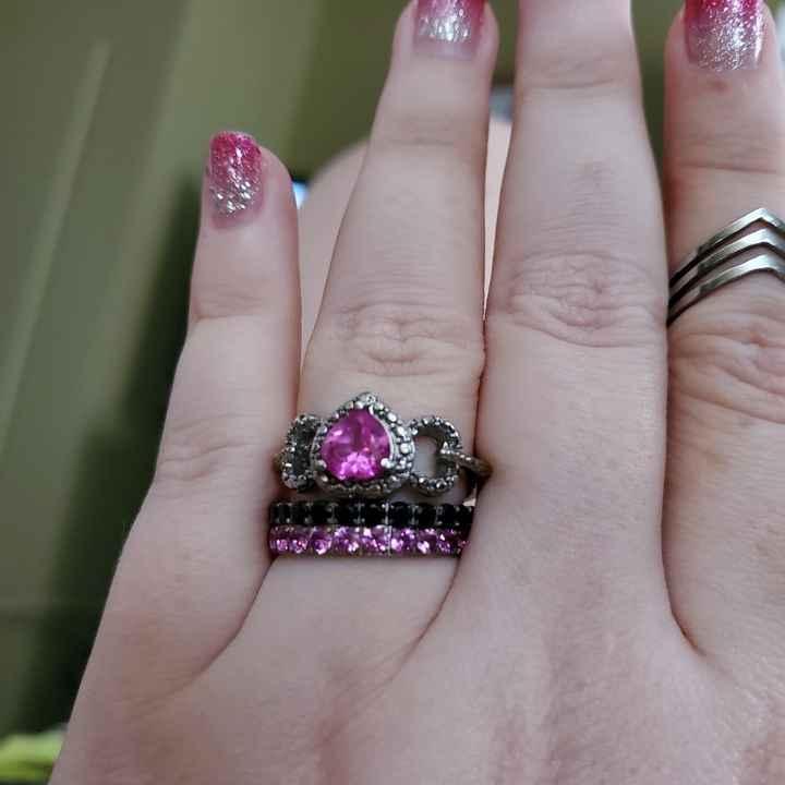 Pink sapphire band - 1