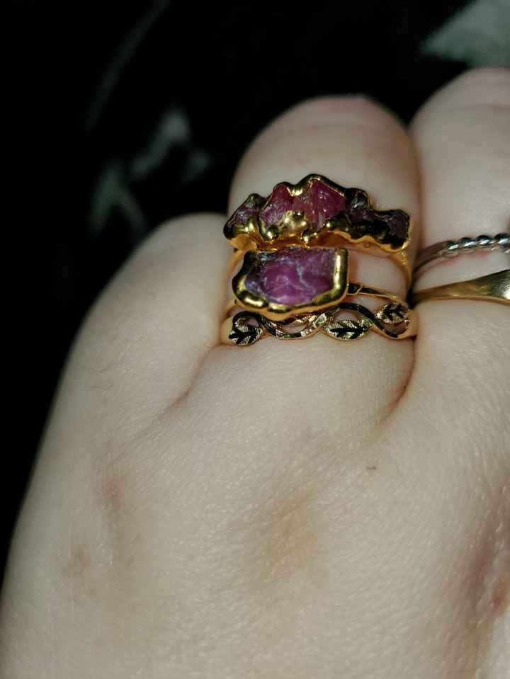Unusual, Unique, Different, engagement and wedding sets or stacks - 1