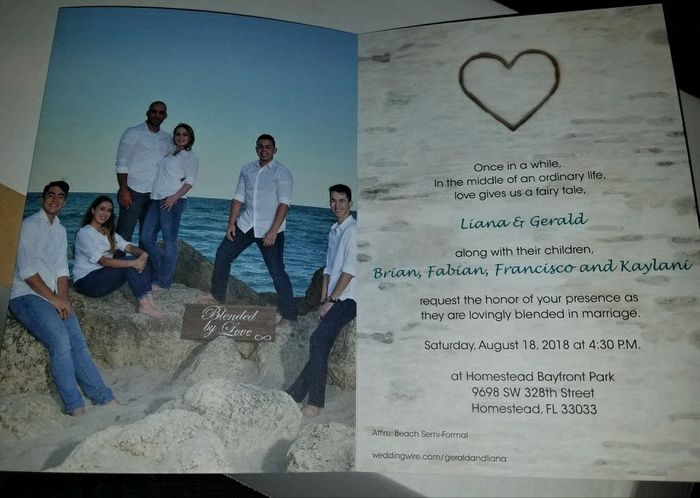 Blended Family Wedding Invitations Are In