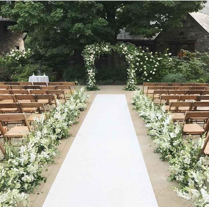 Floral ceremony aisle decor - 1