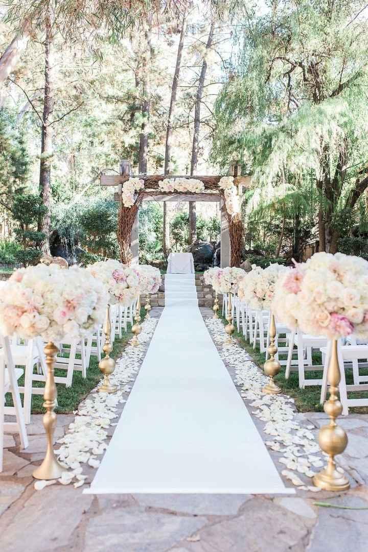 Floral ceremony aisle decor - 3