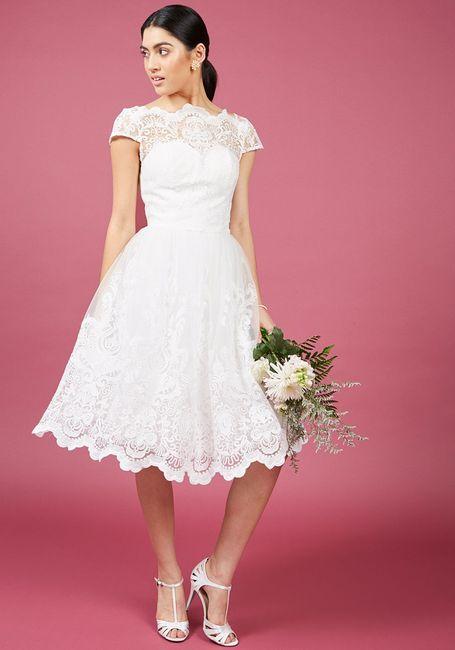 Tea length retro-style dresses in stores? | Weddings
