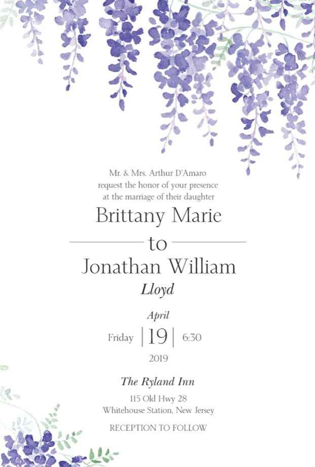Our invitations