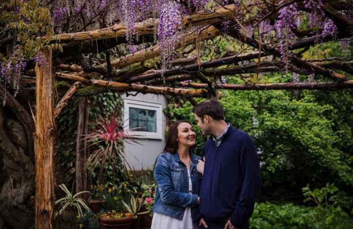 Inspired by this gorgeous wisteria from our engagement session :)