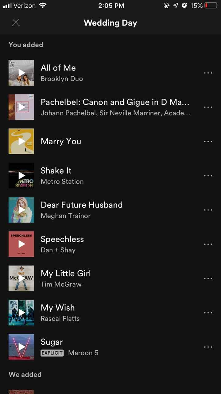 Psa: Wedding Playlist - 1