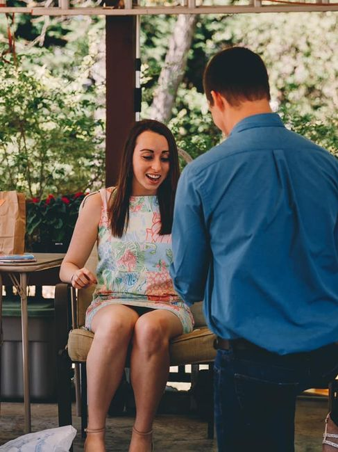 Was your proposal a total surprise? 💍 Or did you see it coming?? 6