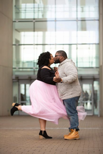 Poses for engagement pictures. - 2