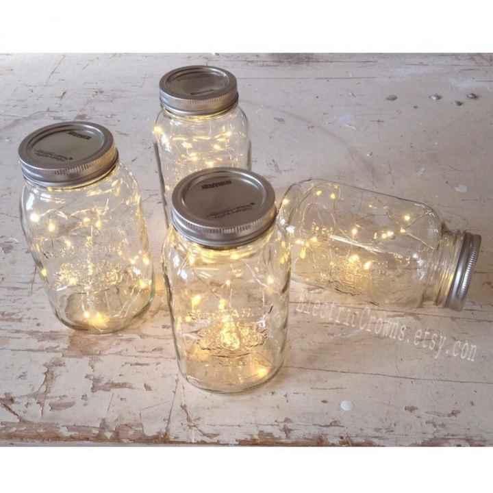 fairy lights mason jars