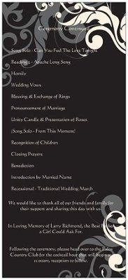 Can I see your programs?   Weddings, Do It Yourself