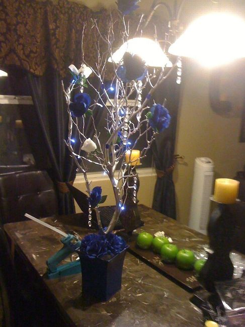 Diy royal blue centerpieces weddings do it yourself