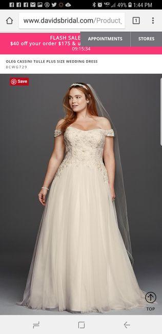 Show me your David's Bridal Dresses 7