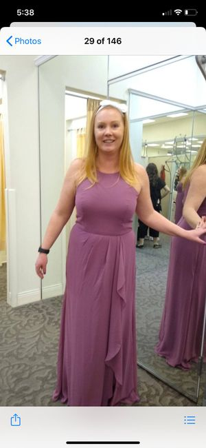 Is anyone else struggling with bridesmaid dresses looking different colors? 2