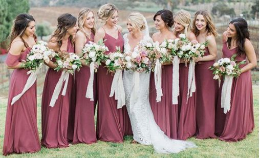 Is anyone else struggling with bridesmaid dresses looking different colors? 1