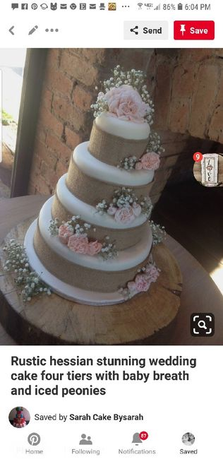 How many tiers in your wedding cake? - 1
