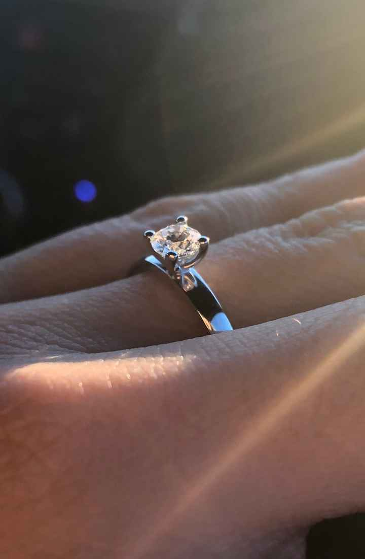 I wanted one simple diamond and he did just that! He picked out the perfect ring.