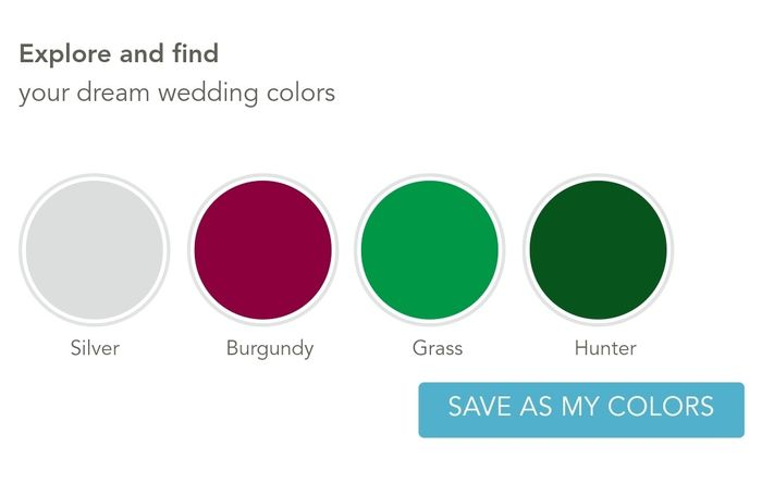 Your wedding in numbers: How many colors in your color palette? 2