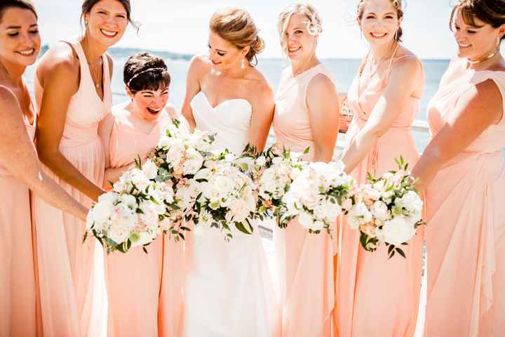 Bridesmaids: different styles in a few different shades 5