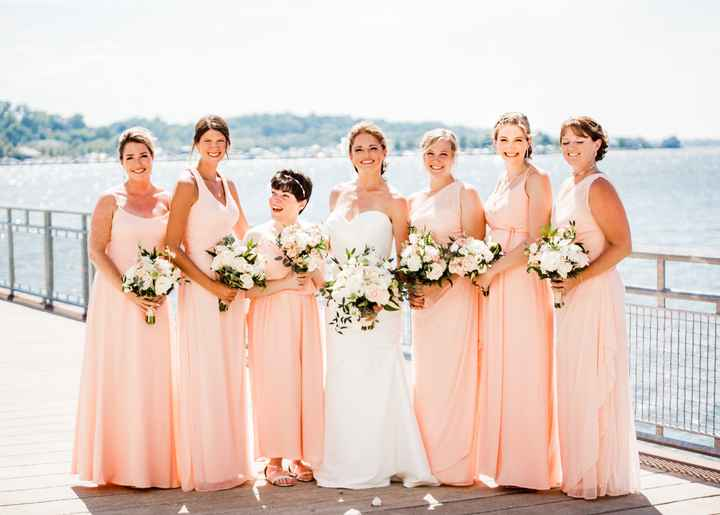 Bridesmaids: different styles in a few different shades 6