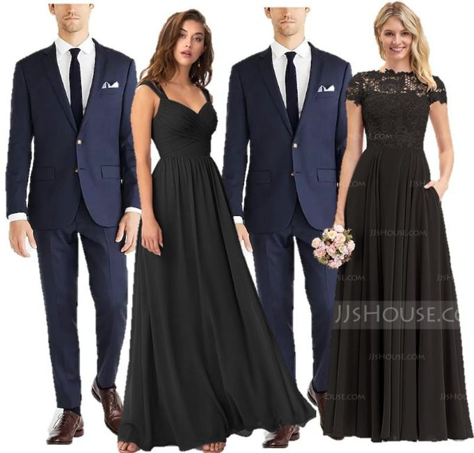 Navy suits with black dresses 1
