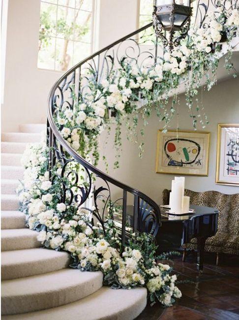 Staircase Floral Arrangement 1