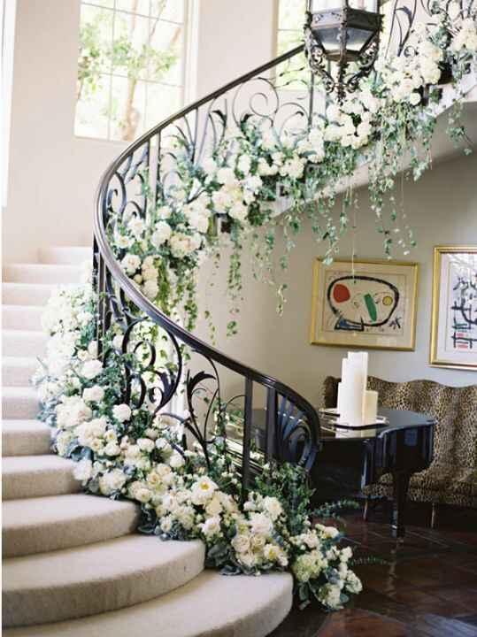 Staircase Floral Arrangement - 1