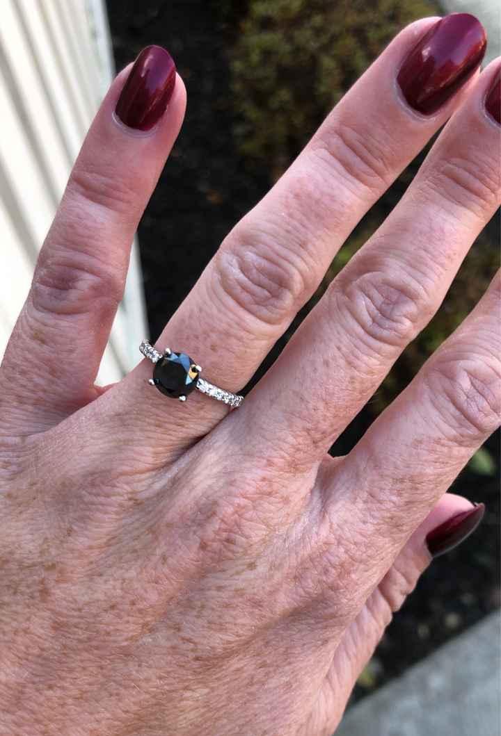 Blue wedding ring - 1