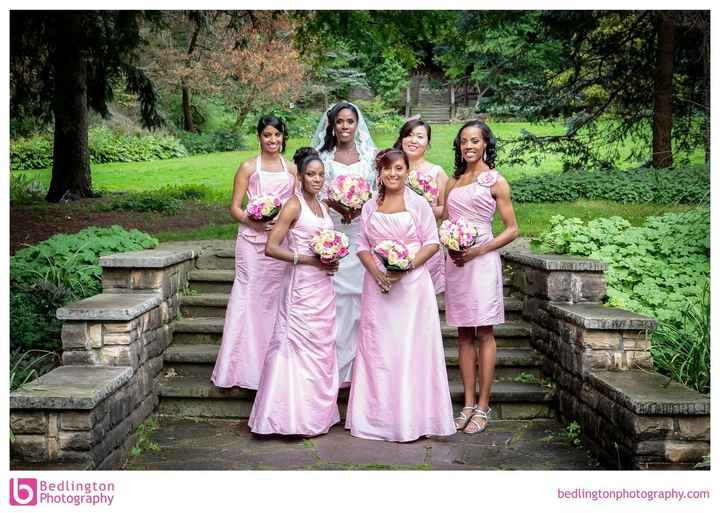 Bridesmaids with Different Dresses - Photos?
