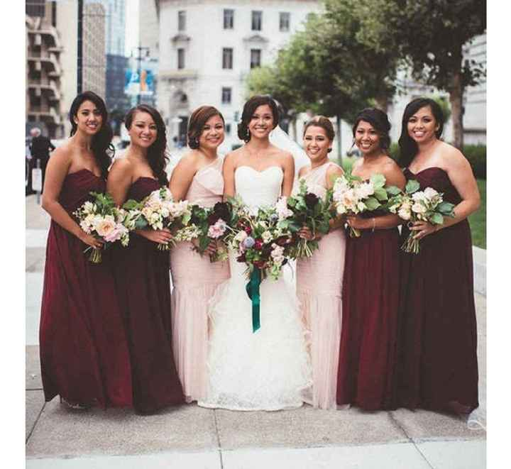 Mix and match bridesmaid dresses - 2