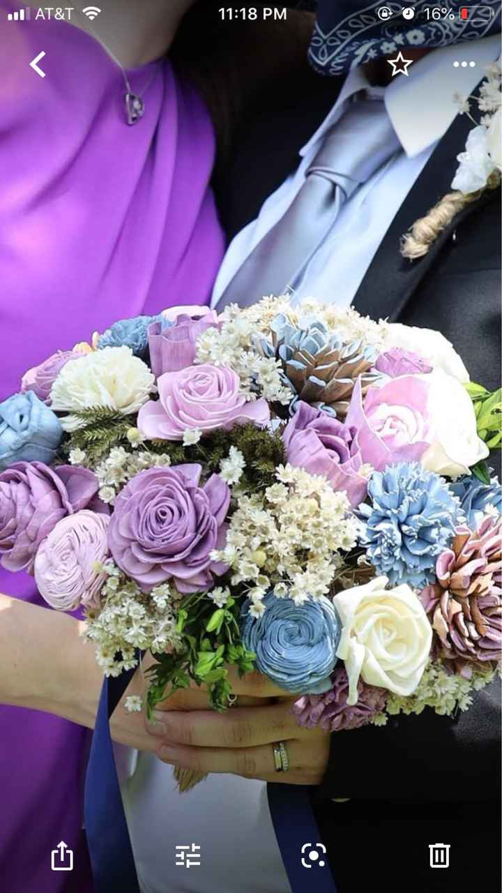 Dusty Blue Floral arrangements - 1