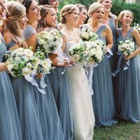 dusty blue bridesmaids dresses