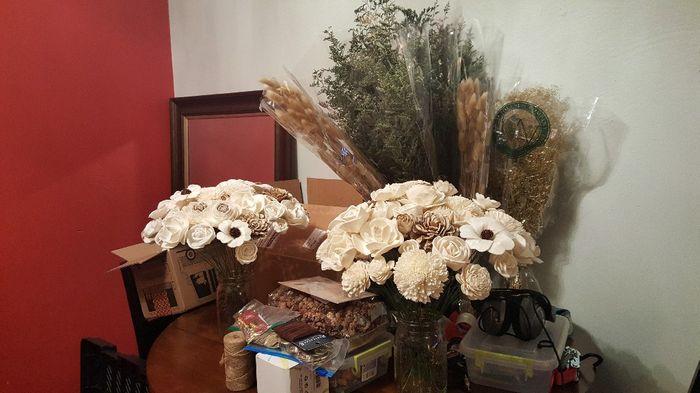 Sola flower bouquet - diy greenery Question 3