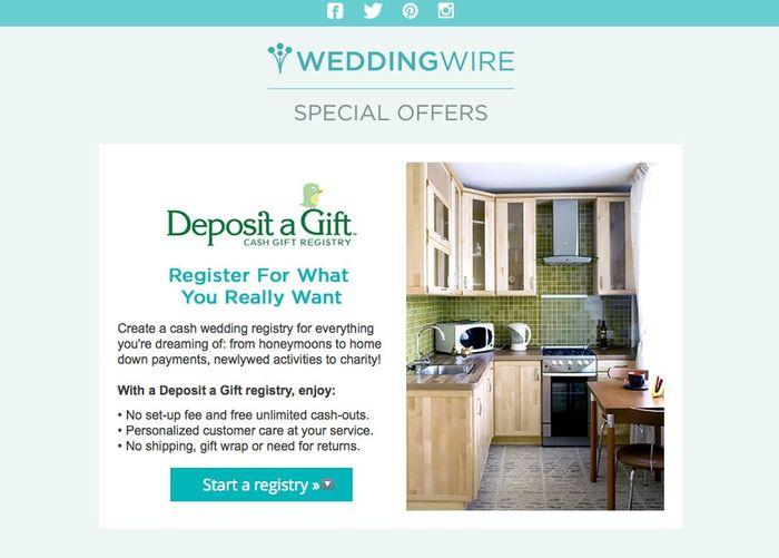 Cash Wedding Registry.Cash Registries And Wedding Wire Weddings Etiquette And Advice