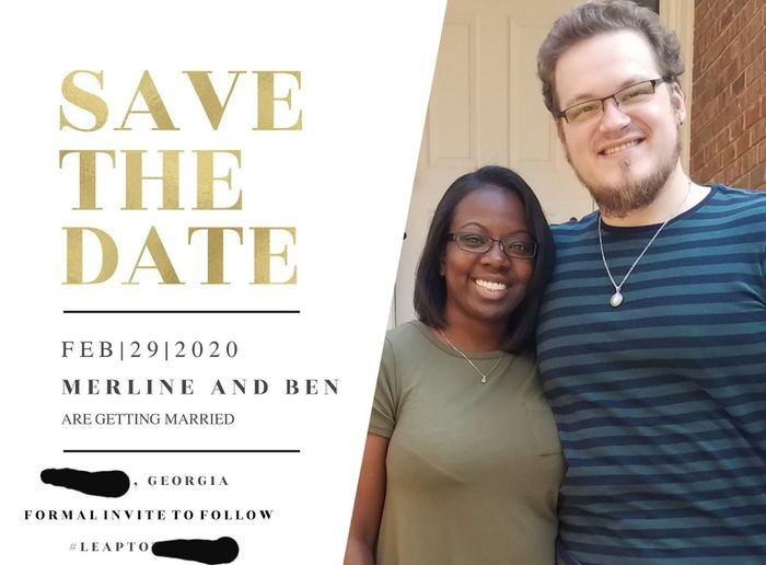Which Save the Date? 1