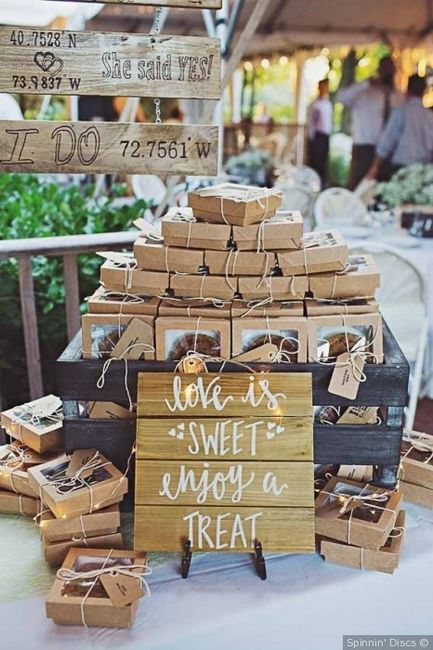 What are you giving as wedding favors? 1