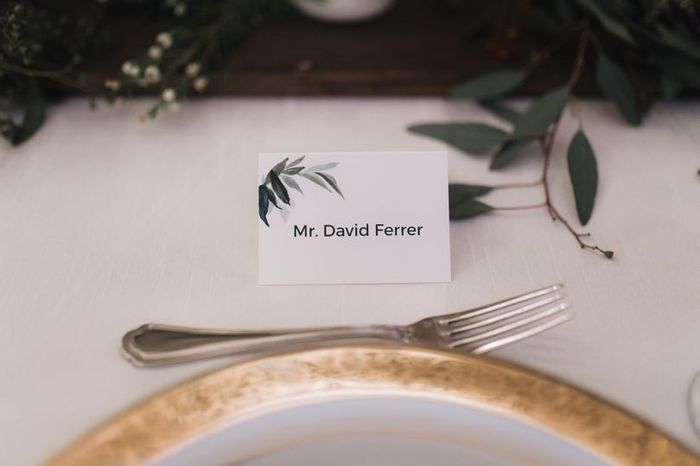 Place cards, escort cards, or seating chart? 1