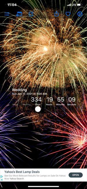 Wedding countdown 1