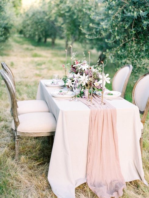 Cheesecloth on satin tablecloths?? - 4