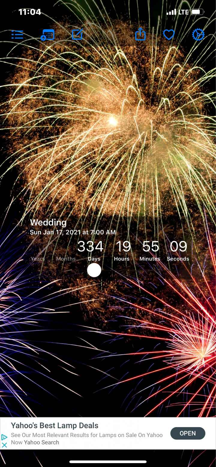 Wedding countdown - 1
